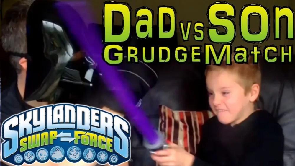 Dad and Son Skylanders Battle