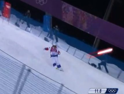 Watch This: Imperial AT-AT Walkers Vs. Sochi Moguls Skiers