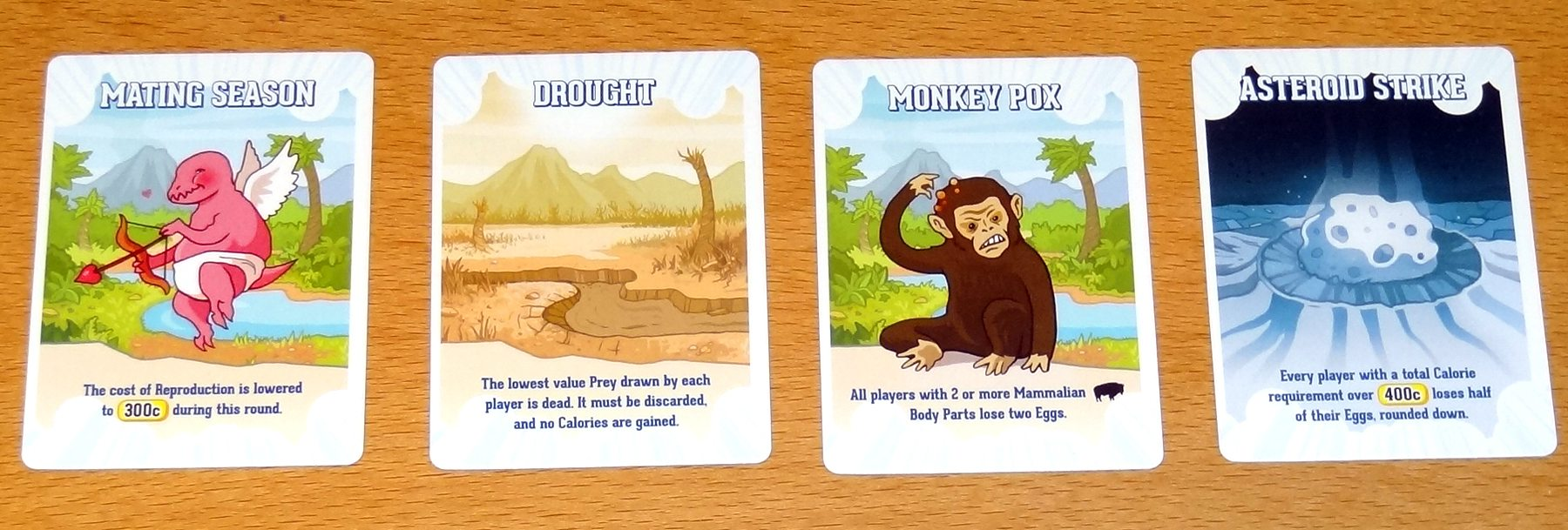 Velociraptor! Cannibalism! climate cards