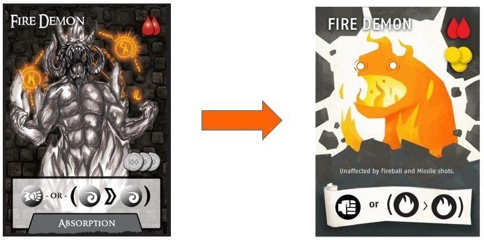 Catacombs fire demon card