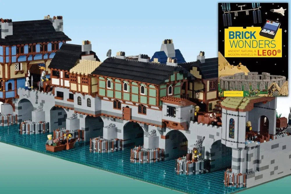 Warren Elsmore's London Bridge model from Brick Wonders