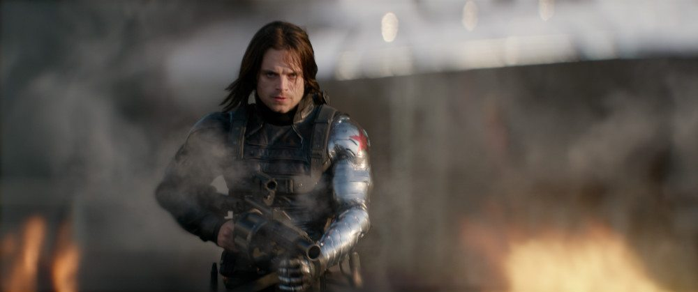 Stan as The Winter Soldier, RPG launcher in hand.