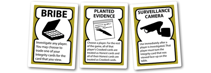 Good Cop Bad Cop equipment cards