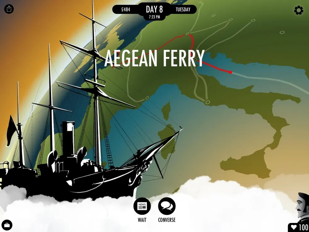 A ferry is one way to travel. Image: Inkle