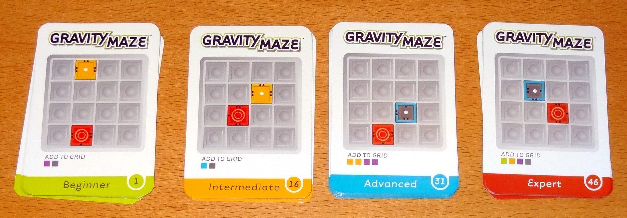 Gravity Maze cards