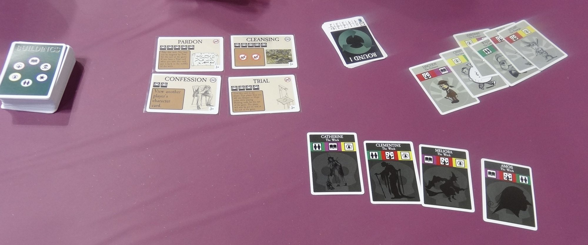 New Salem prototype cards