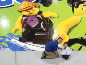 Warren's previous Lego mosaic attempt