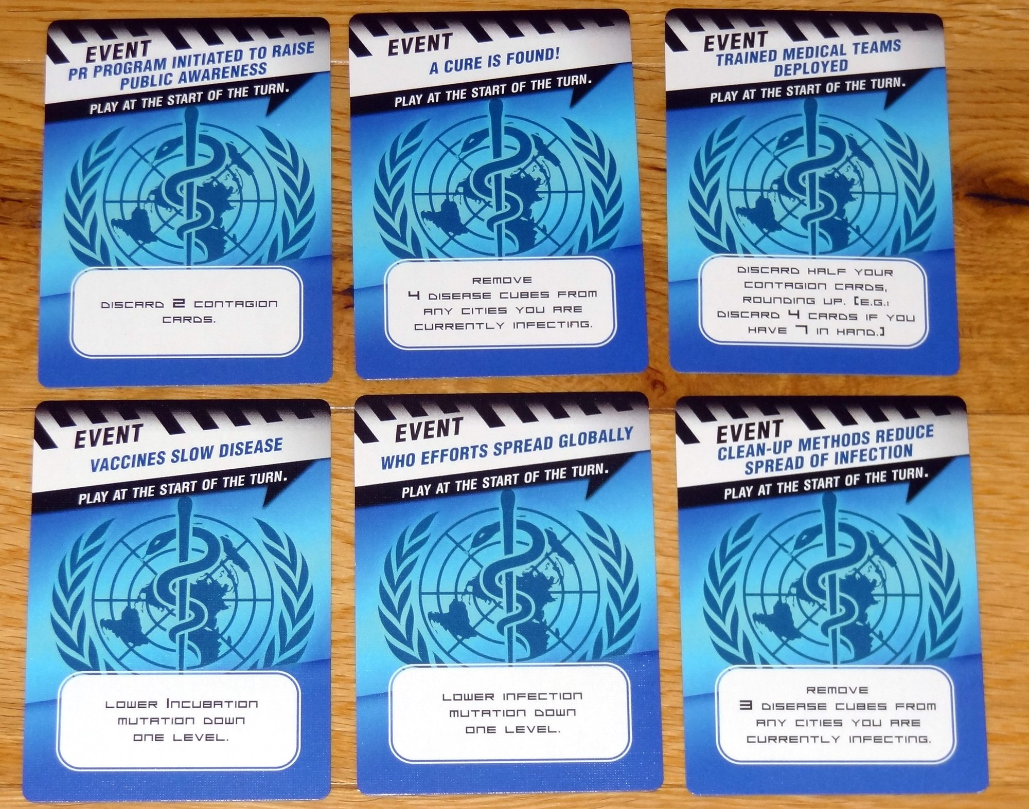 Pandemic Contagion WHO cards
