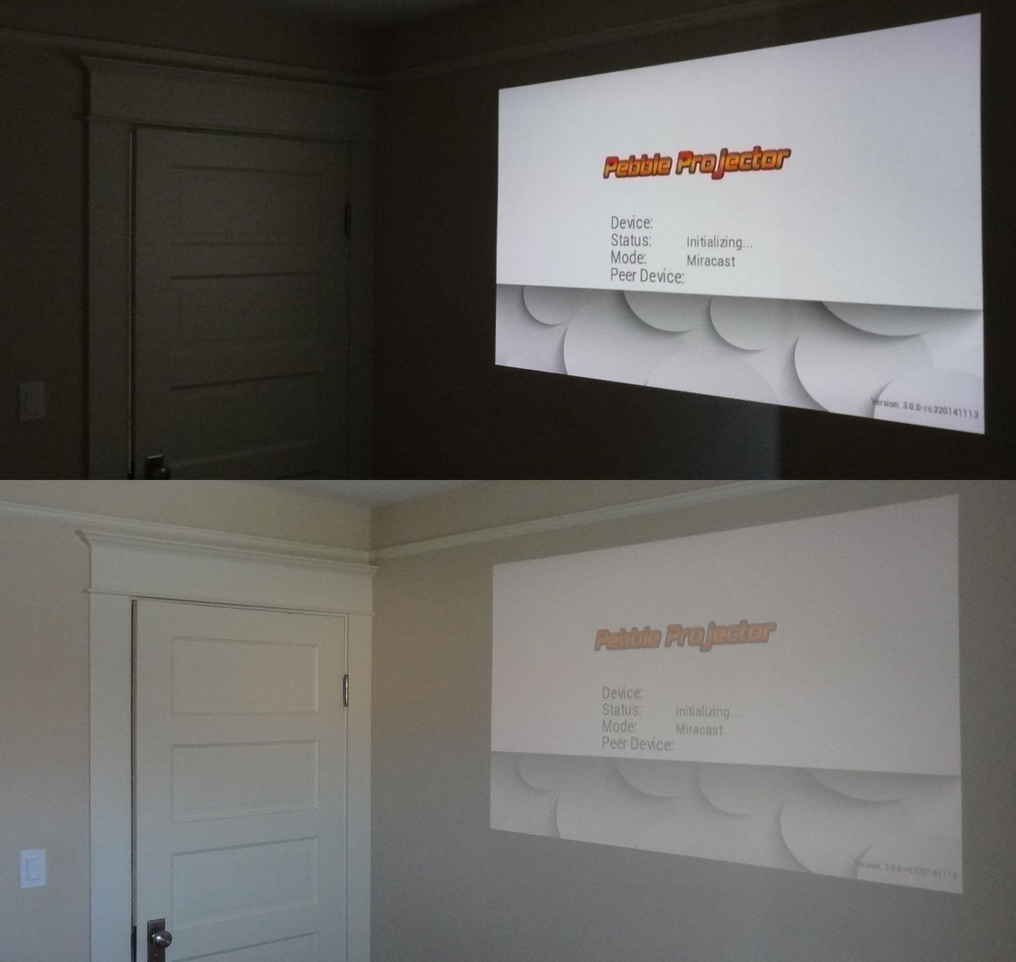 The largest I can project in my house is here in my bedroom  with the  projector against the back wall  Not bad in the dark  but not bright enough  with the. Adayo Projector Puts a Big Screen in Your Pocket   GeekDad