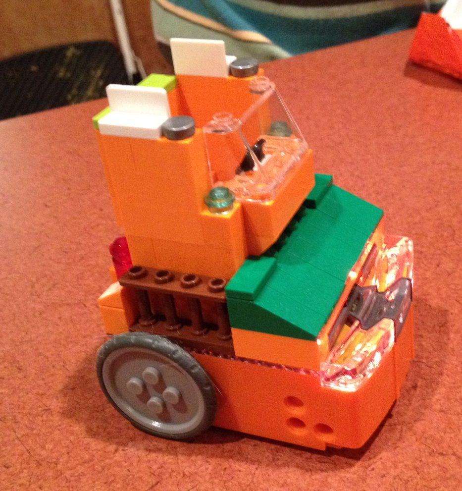 My overly orange vehicle. Because orange.