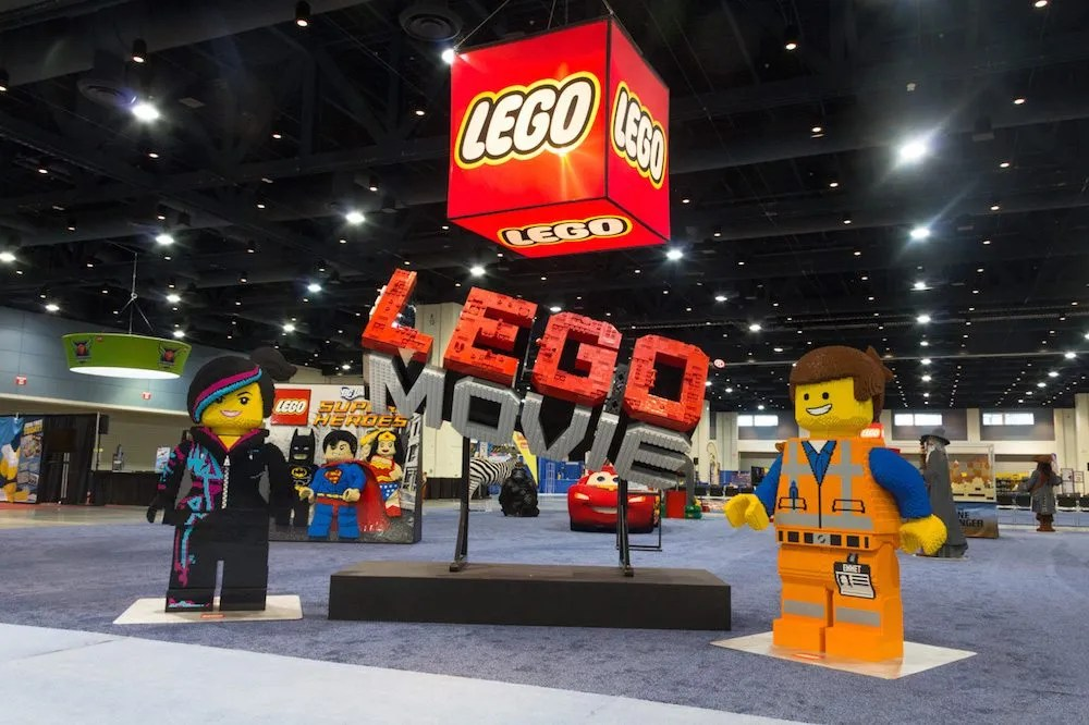 Huge LEGO construction including characters from the LEGO Movie