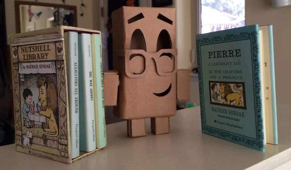 Cardboard Corey decided to read some books. Image: Jenny Bristol