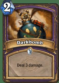 The card Darkbomb from Hearthstone.
