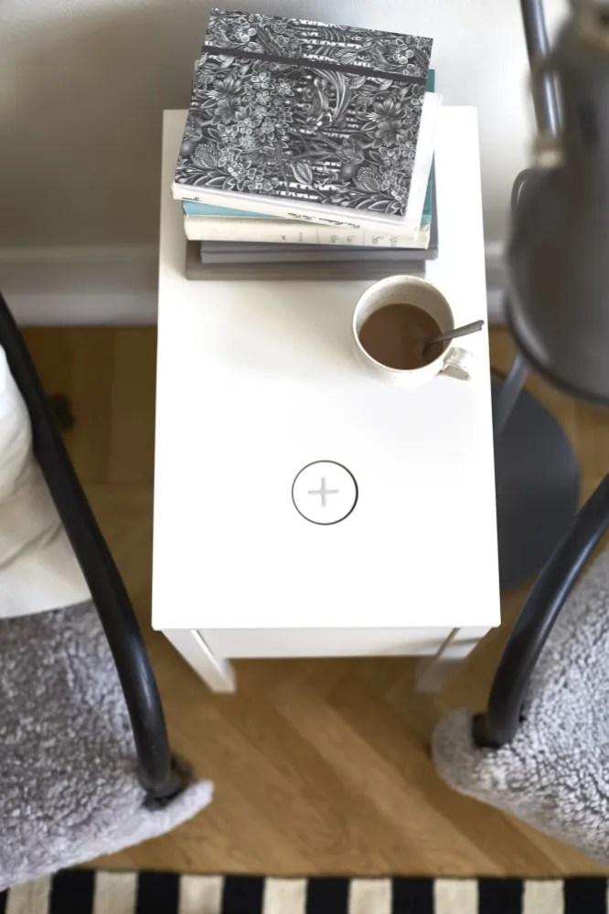 IKEA Qi Wireless Charging End Table