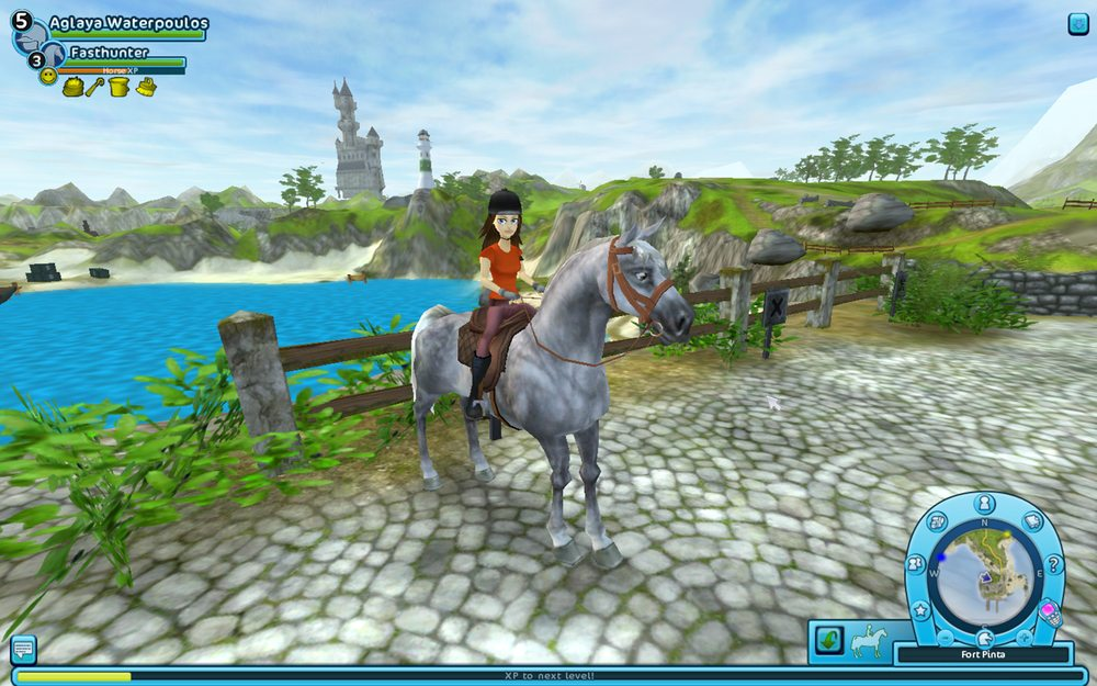 One of the many lovely vistas of Star Stable's Jorvik Island.
