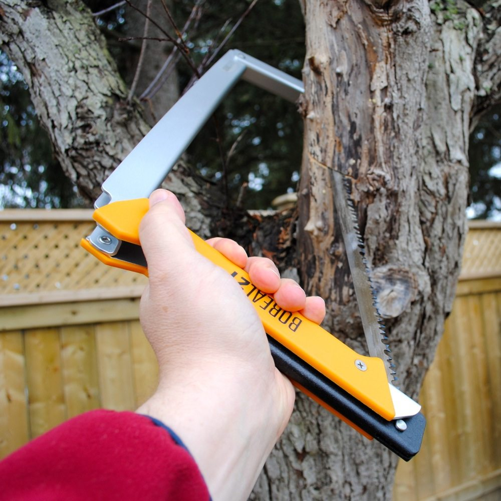 The Boreal 21 cutting wood