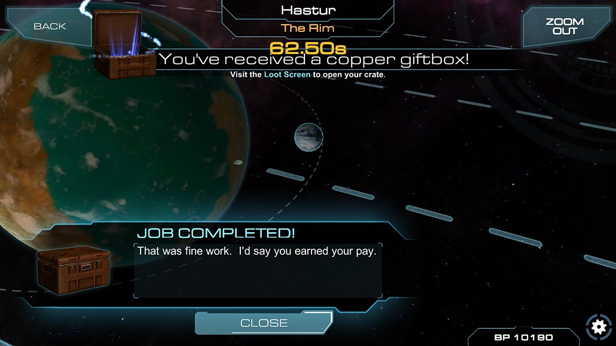 Earn a loot crate for successfully completing a trade route.