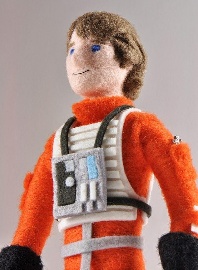 You can see the detail and texture of this needle felted Luke Skywalker. Image: Chronicle Books