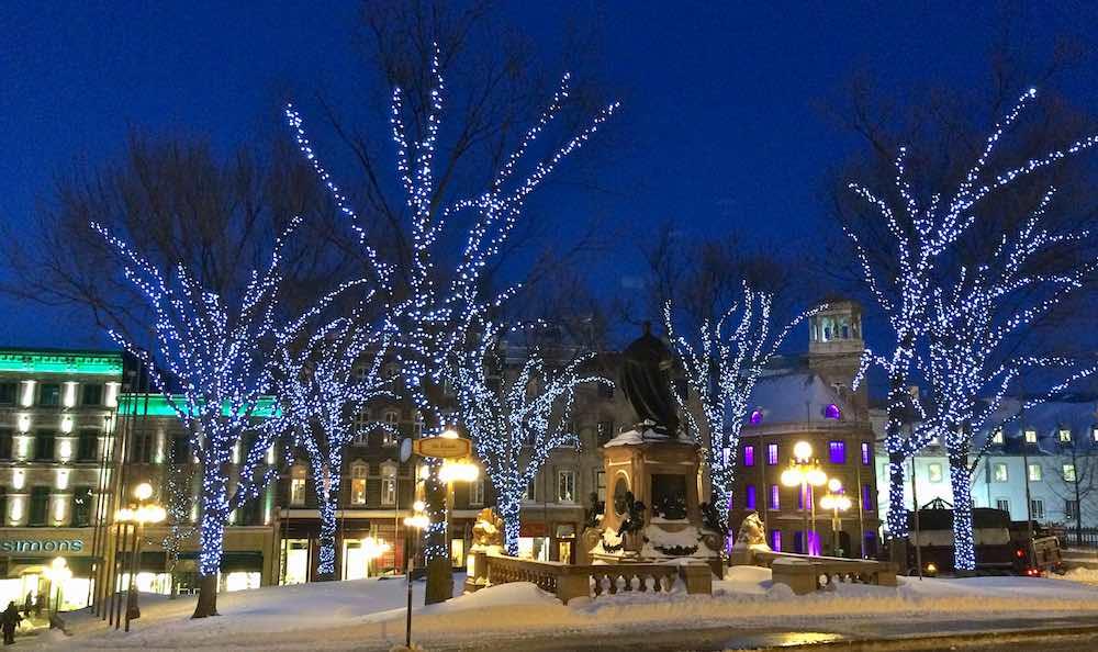 Old Quebec illuminated