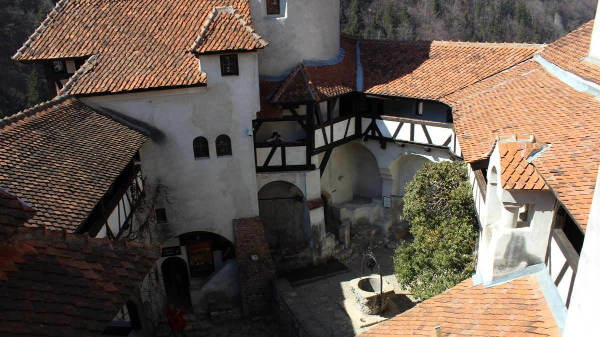 Bran Castle Coutyard