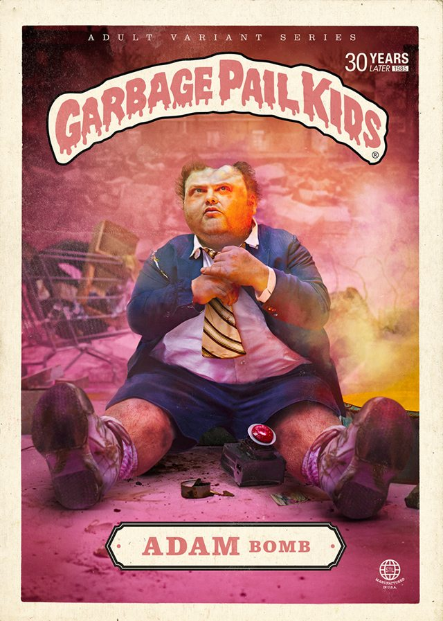 Garbage Pail Kids' 'Adam Bomb' 30  years later