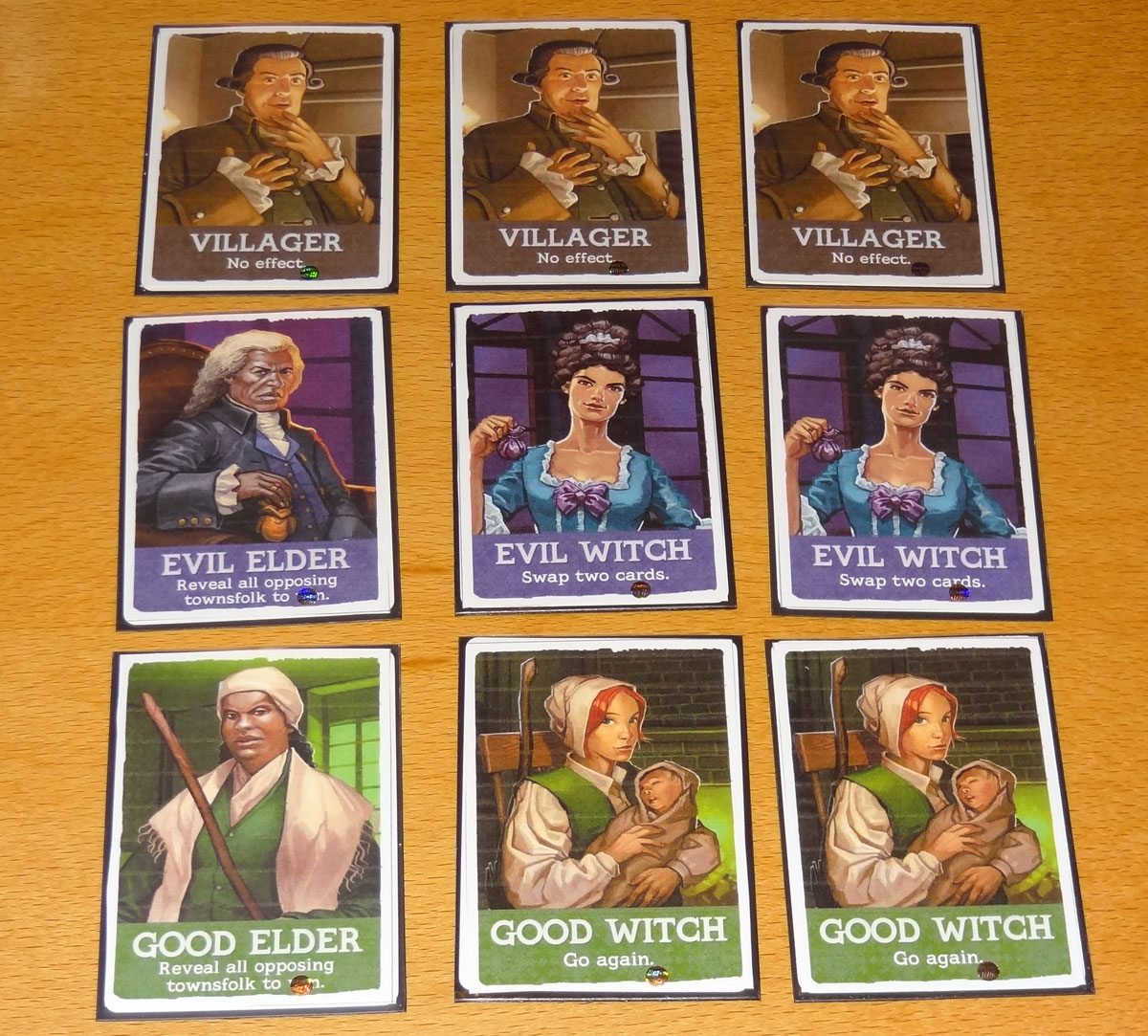 Cunning Folk townsfolk cards