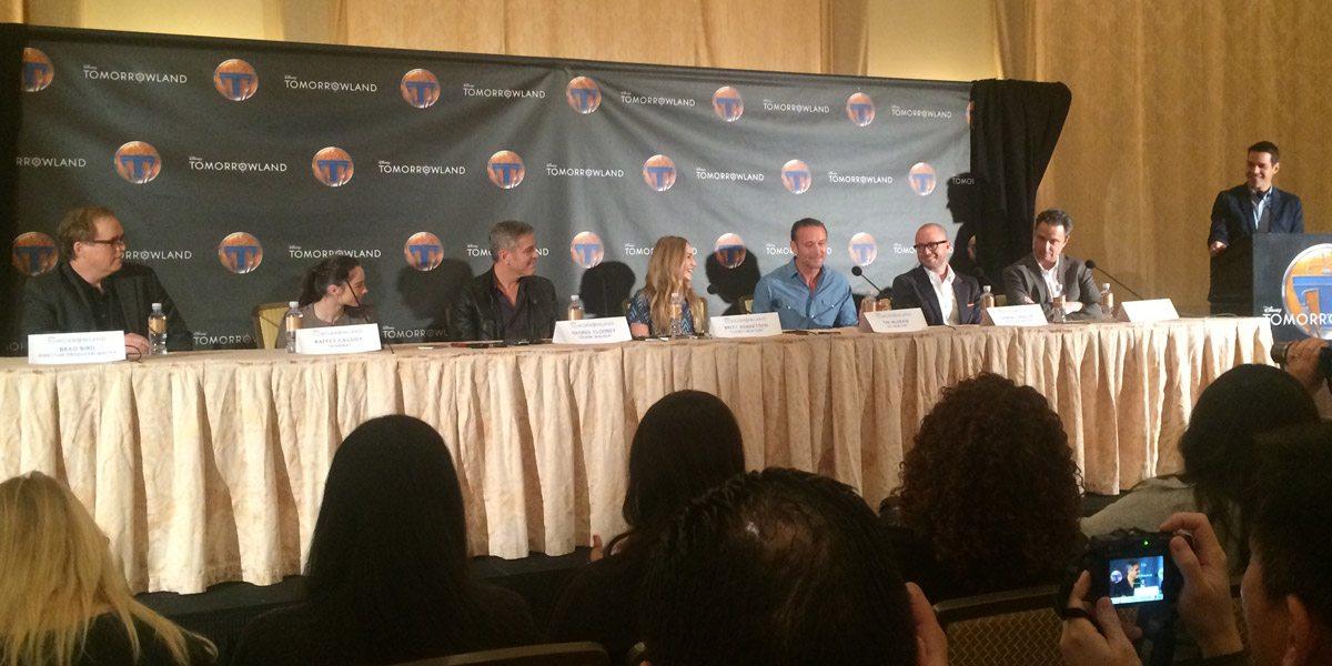 Brad Bird, Raffey Cassidy, George Clooney, Britt Robertson, Tim McGraw, Damon Lindelof and Jeff Jensen answer questions from the press.