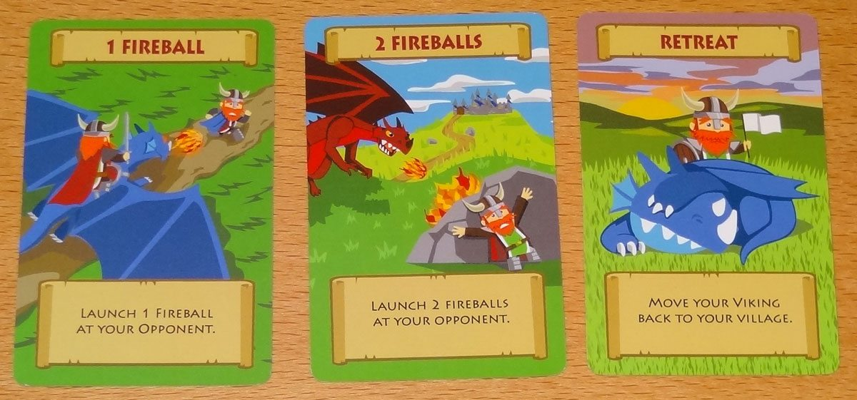Vikings of Dragonia battle cards