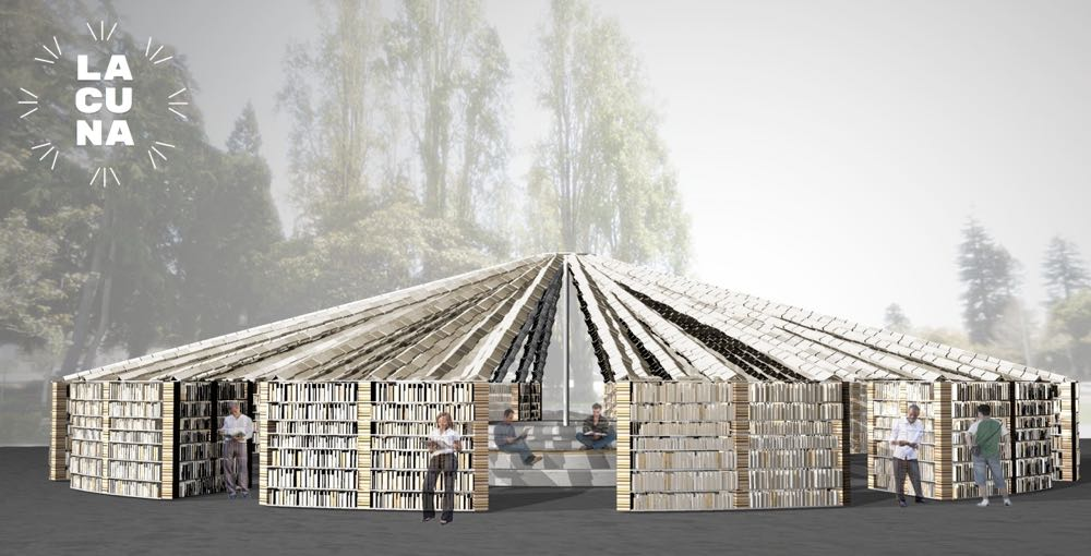 The Lacuna Book Project. Photo courtesy of Bay Area Book Fair.