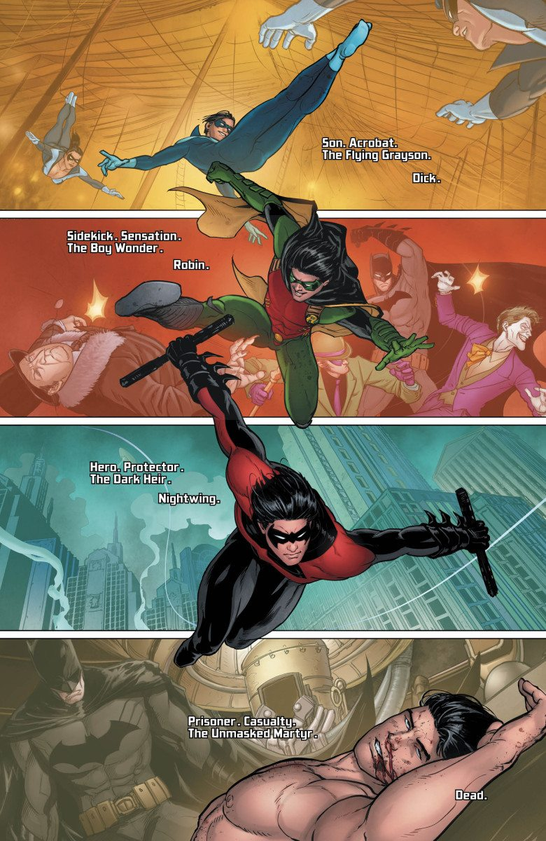 Grayson, Vol. 1, Page 1, Courtesy of DC Comics
