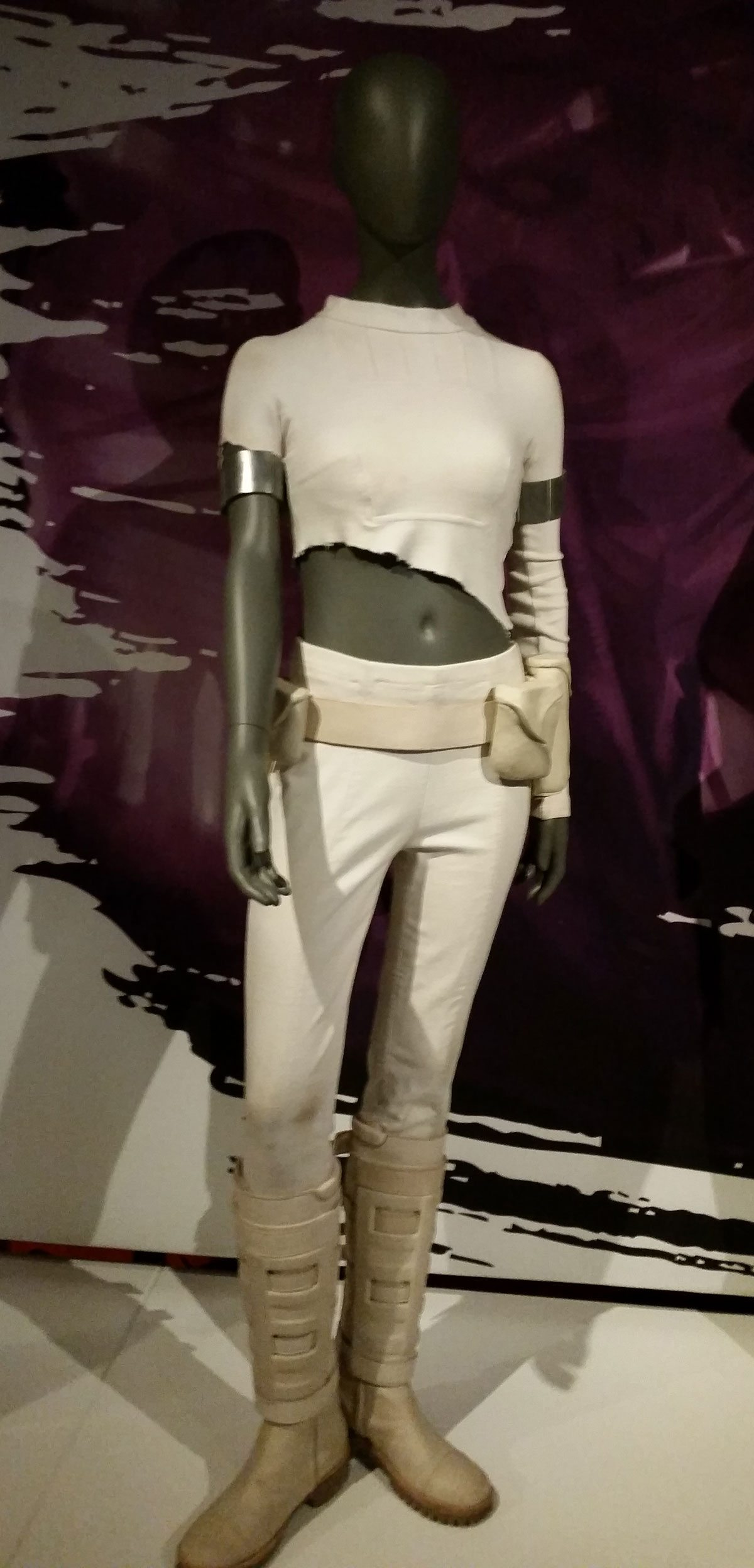 One of Amidala's more recognizable outfits, which she worn during the Battle of Geonosis. Photo by Rob Huddleston.