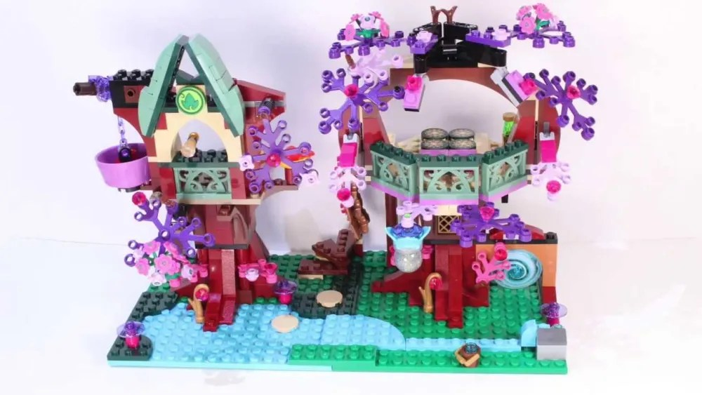 LEGO Elves The Elves' Treetop Hideaway Image by Modern Brick, labelled for re-use