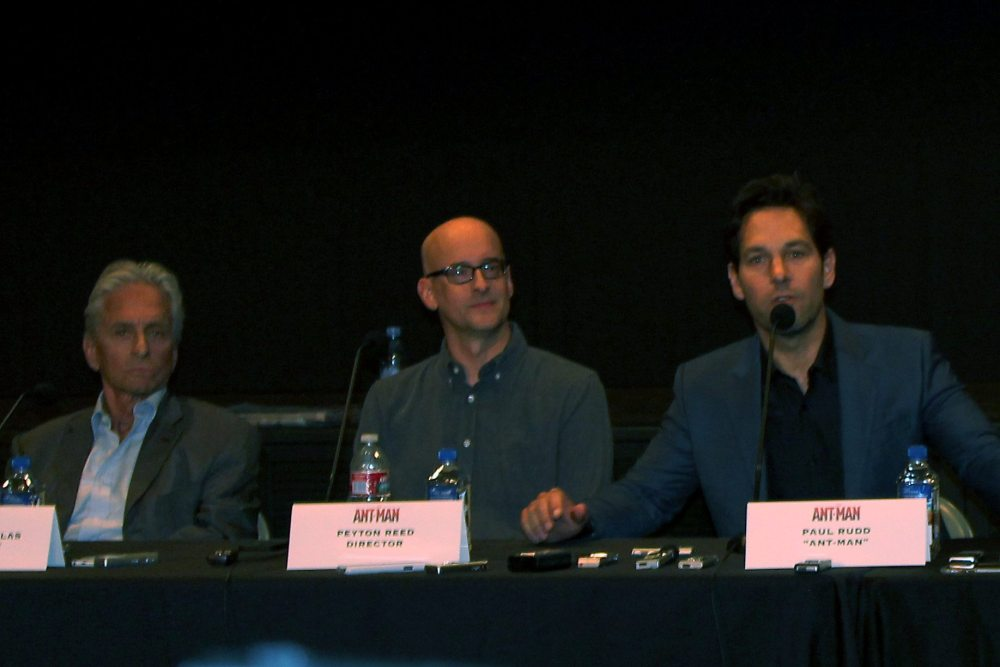 Michael Douglas, Peyton Reed and Paul Rudd take questions from the audience.