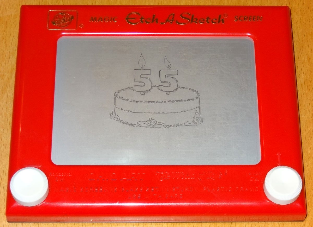 Etch-a-Sketch 55 Birthday