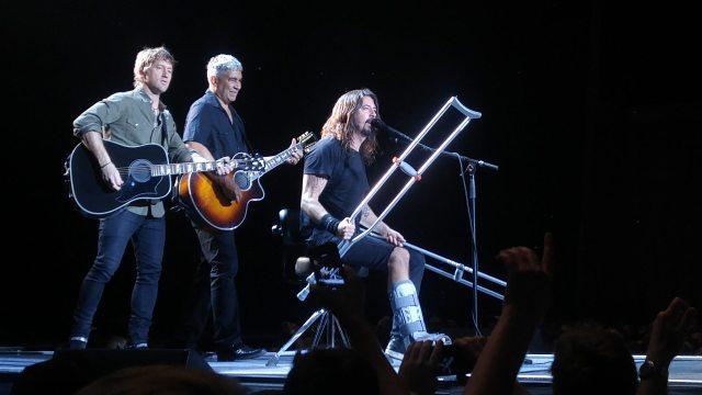 Foo Fighters Toronto Crutch Break