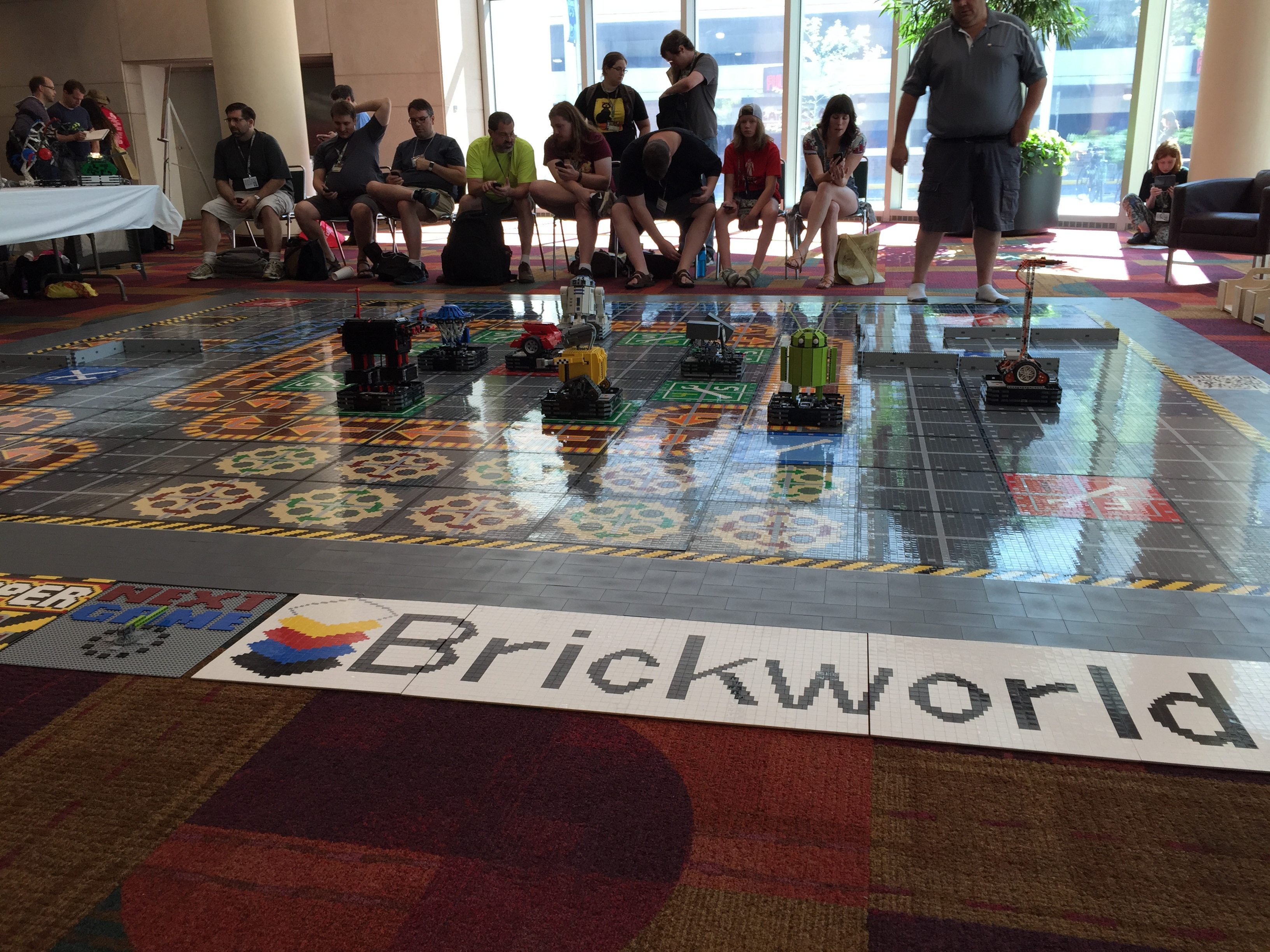 Brickworld's giant edition of Robo Rally