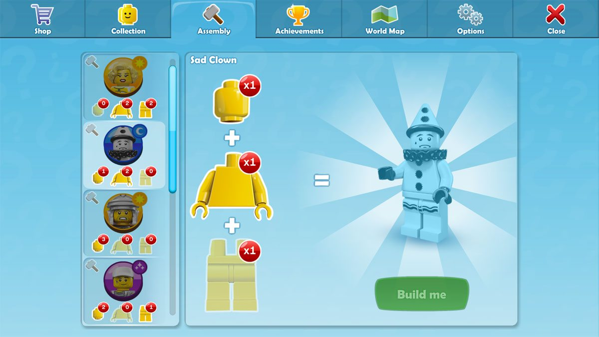 Lego Minifigures assembly