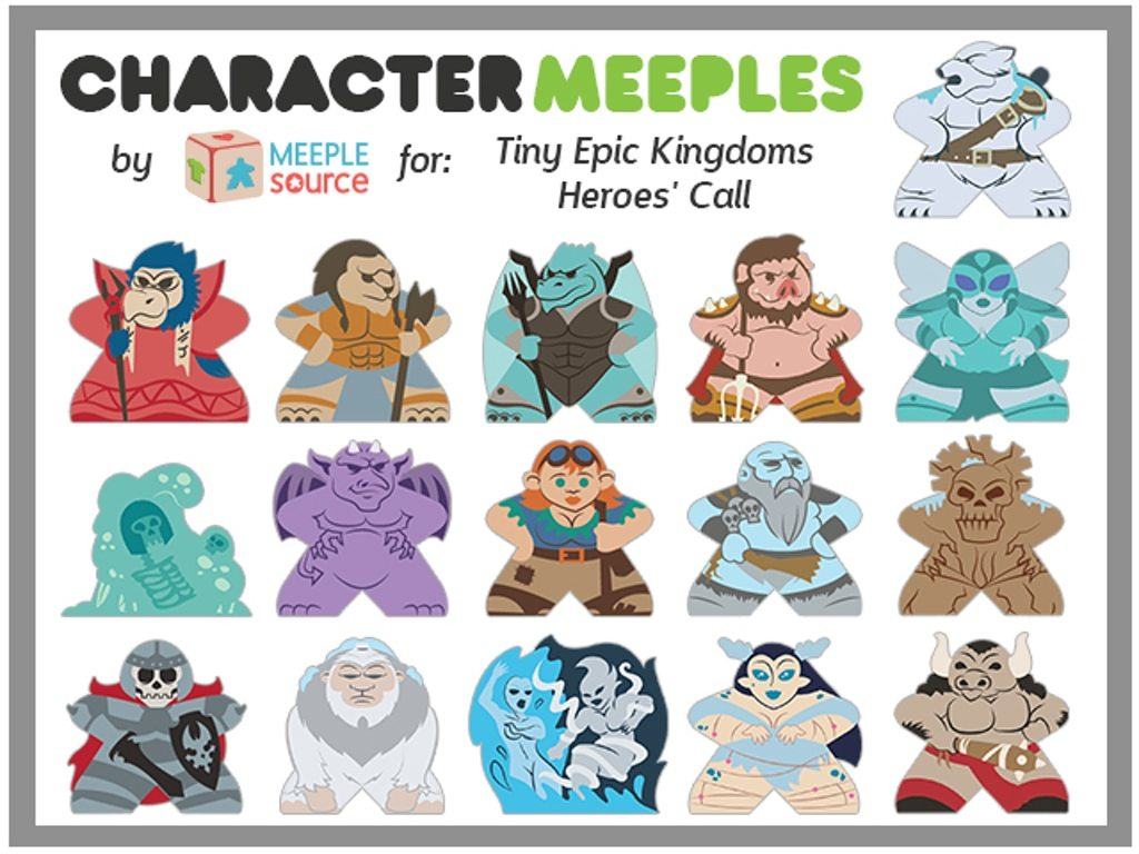 Character Meeples Tiny Epic Kingdoms