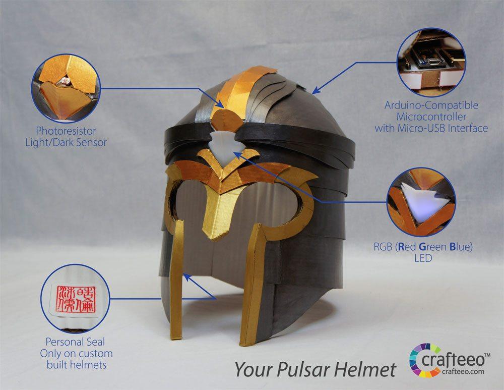 Pulsar Helmet diagram