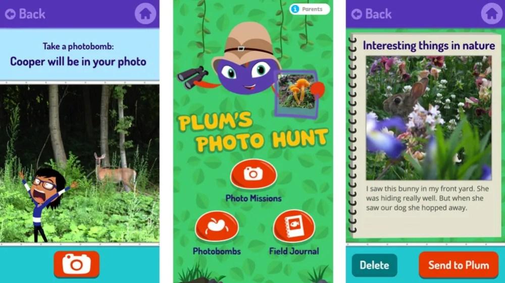 Plum's Photo Hunt. App store images.