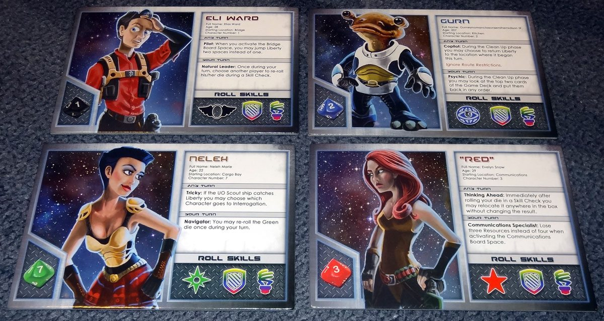 Space Movers character cards
