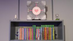 The Enrichment Center reminds you that the Companion Cube will never threaten to stab you and, in fact, cannot speak. In the event that the Companion Cube does speak, the Enrichment Center urges you to disregard its advice.