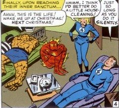 Mind you, that sort of treatment *is* in keeping with the classic comics. Copyright Marvel Comics.