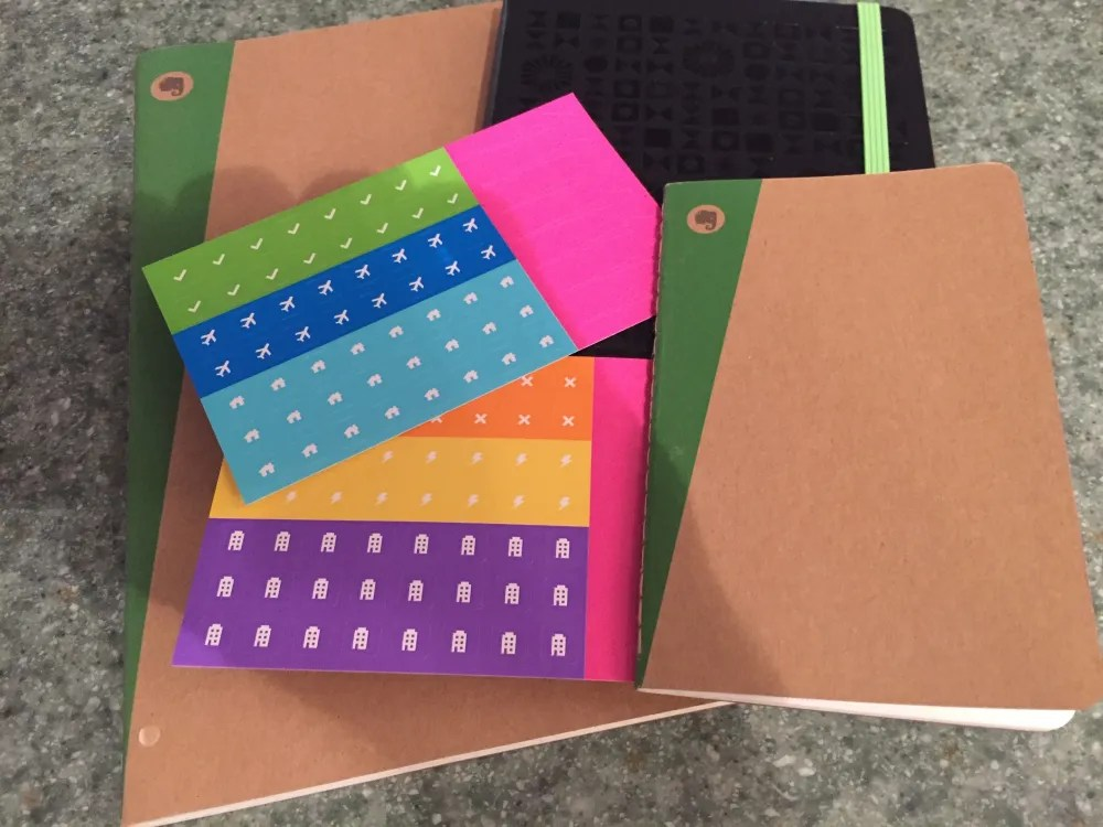 Moleskine Evernote w/ stickers
