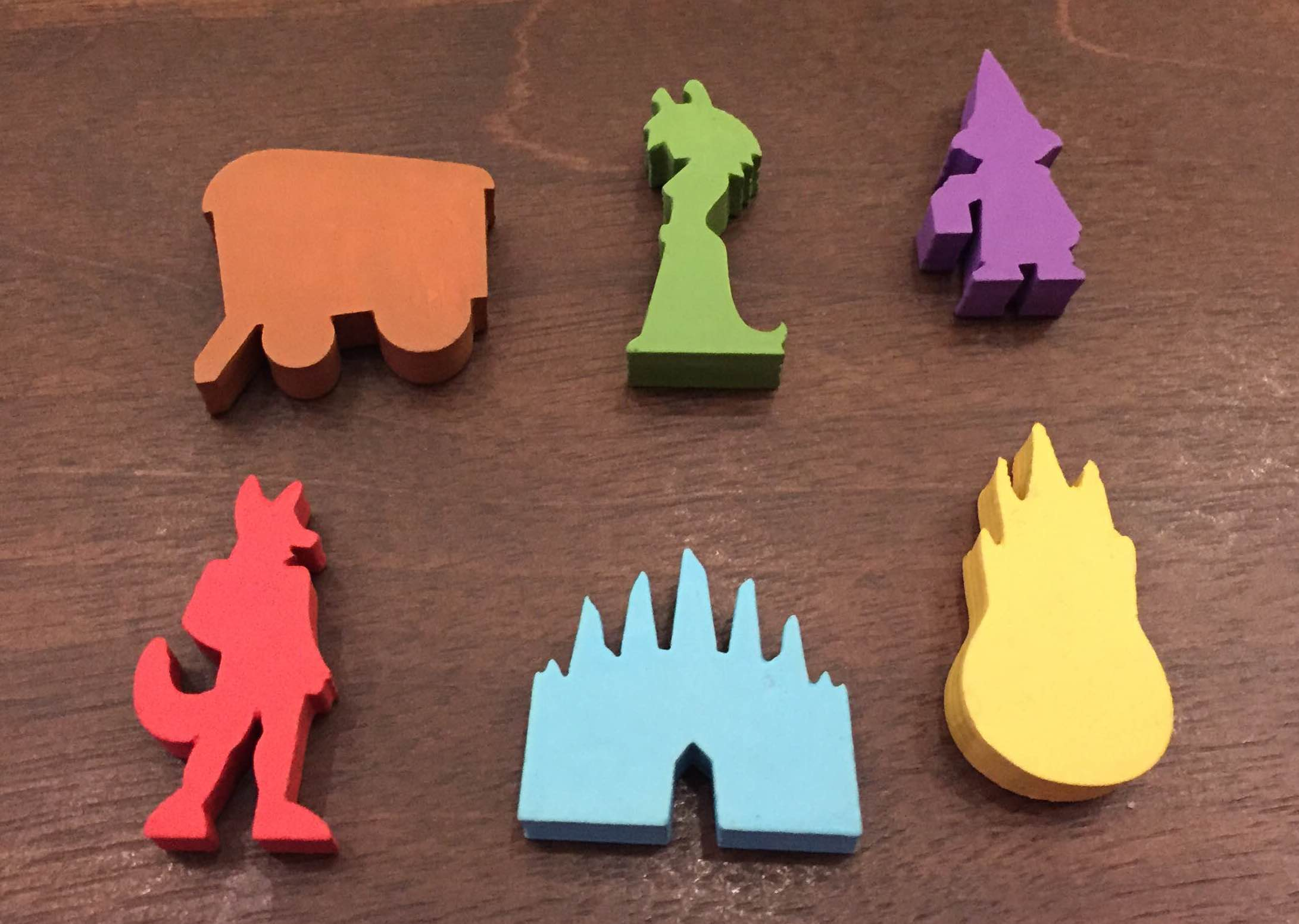 Custom Meeples from the game