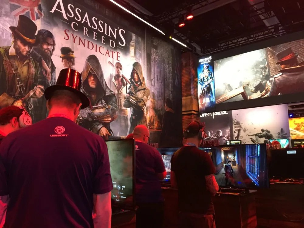 On Friday the lines for some of the AAA games were short so we had a chance to try out Assassin's Creed Syndicate. Photo by Ryan Hiller
