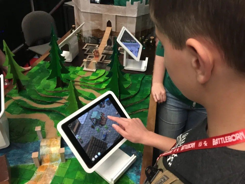 'Playsets', a multi-platform tool, replaces miniatures and a playmat. This multi-user app provides a great deal of customization. Photo by Ryan Hiller.