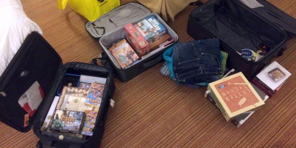 Last Game of Gen Con: Suitcase Tetris