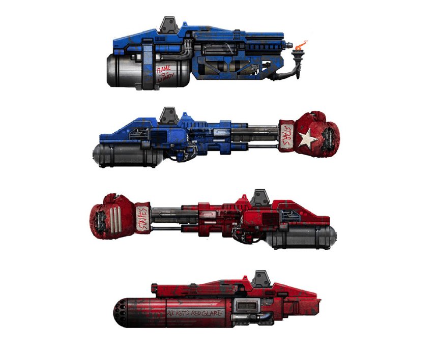 Four proposed weapons for Mk II