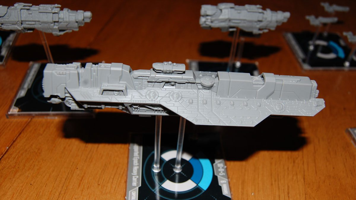 'Halo: Fleet Battles' UNSC heavy carrier. Photo by Rob Huddleston.
